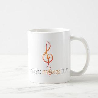 La música mueve la taza de doble cara del logotipo