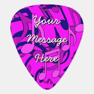 La música musical rosada magenta del modelo púa de guitarra