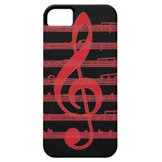 La música negra roja observa el caso del iphone 5  iPhone 5 Case-Mate carcasas