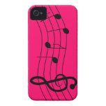 La música observa el caso del iPhone 4s Case-Mate iPhone 4 Protectores