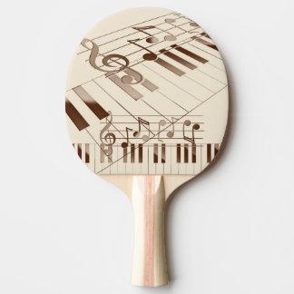 La música observa el ejemplo pala de tenis de mesa