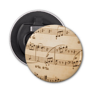 La música observa el fondo abrebotellas redondo
