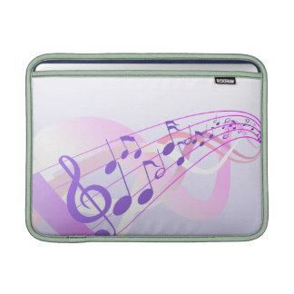 La música observa el fondo fundas macbook air