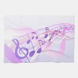 La música observa el fondo toallas de mano