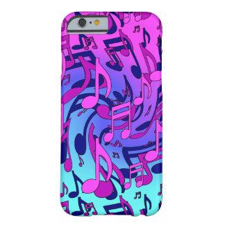 La música observa el modelo azul rosado animado funda barely there iPhone 6