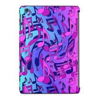 La música observa el modelo azul rosado optimista fundas de iPad mini