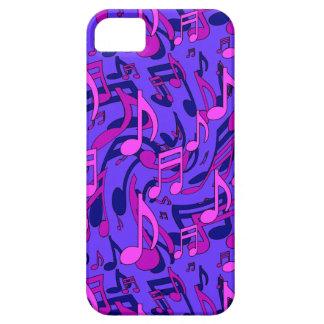 La música observa el modelo musical azul rosado iPhone 5 fundas