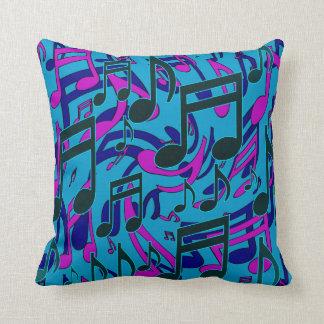 La música observa el modelo púrpura animado del cojín