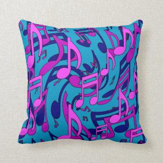 La música observa el modelo púrpura rosado animado cojín