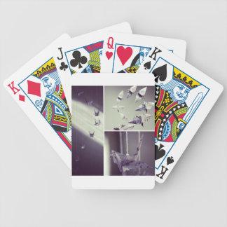 La música observa el móvil de la grúa de Origami Baraja Cartas De Poker