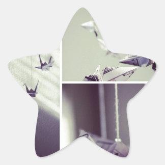 La música observa el móvil de la grúa de Origami Colcomanias Forma De Estrellas