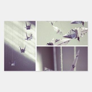 La música observa el móvil de la grúa de Origami Rectangular Altavoces