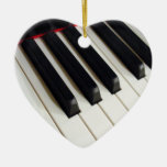 La música observa el ornamento del teclado de pian adornos