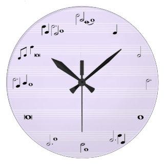 La música observa el reloj de tiempo - púrpura de
