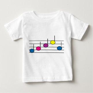 La música observa la camiseta infantil playera
