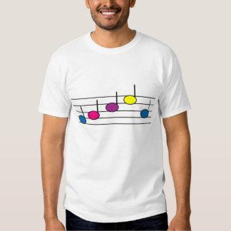La música observa la camiseta playeras