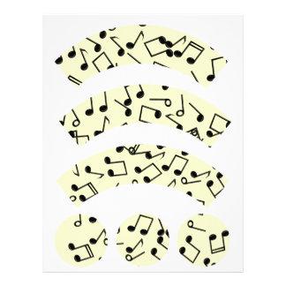 La música observa la envoltura de la magdalena plantillas de membrete