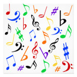 La música observa la invitación adaptable - multi