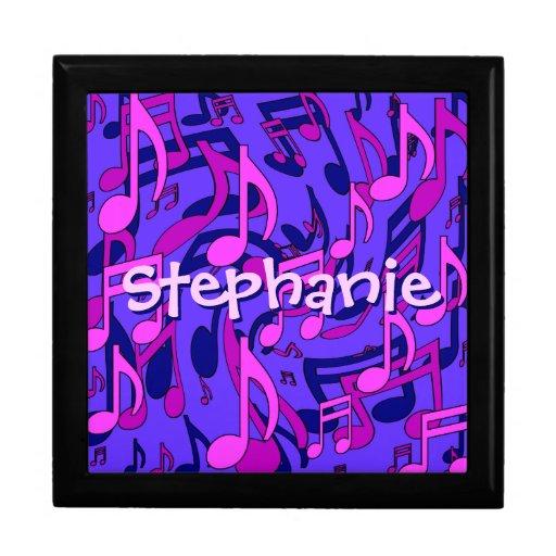 La música observa la púrpura azul rosada cajas de joyas