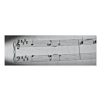 La música observa la señal tarjeta de negocio