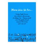 La música observa la tarjeta de la recepción del invitación 8,9 x 12,7 cm