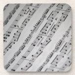 la música observa partitura posavaso