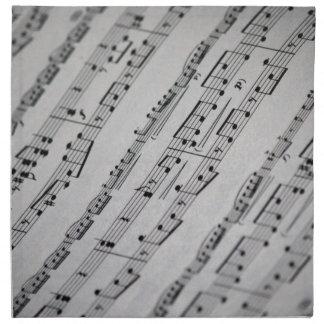 la música observa partitura servilleta imprimida