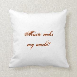 La música oscila mi almohada del mundo cojín decorativo