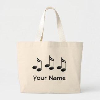 La música personalizada observa la bolsa de asas