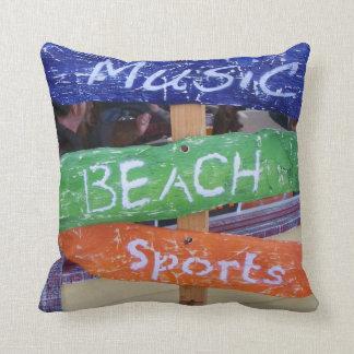 ¡La música playa se divierte la almohada