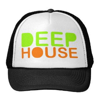 la música profunda DJ de la casa diseña la gorra d