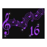 La música púrpura observa la invitación del dulce invitación 11,4 x 15,8 cm