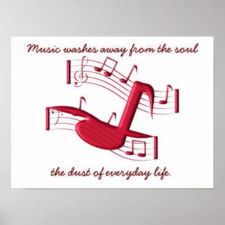 La música quita - el poster póster