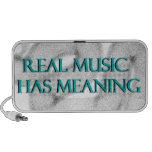La música real tiene significado sistema altavoz