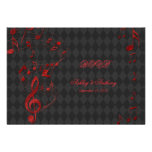 La música roja negra del Harlequin observa casar l Anuncios Personalizados