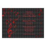 La música roja negra del Harlequin observa la invi Comunicado Personalizado