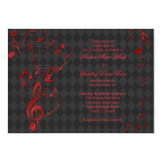 La música roja negra del Harlequin observa la Comunicado Personalizado