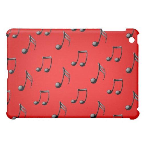 La música roja y negra observa el caso del iPad de