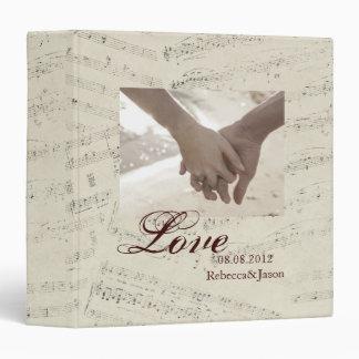 "La música romántica moderna observa el boda de la carpeta 1 1/2"""