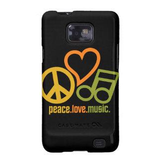 La música Samsung del amor de la paz encajona Galaxy S2 Fundas