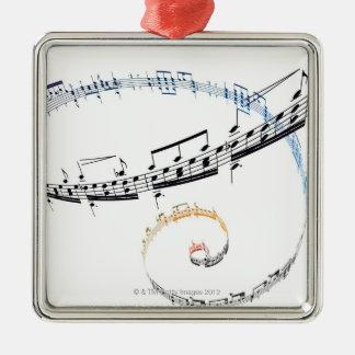 La música se basa en Fanataisie Adorno Cuadrado Plateado