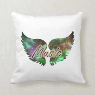 La música se va volando verde púrpura de la capa 1 almohadas