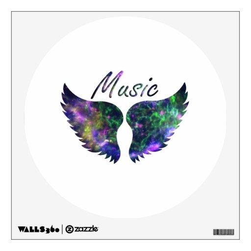 La música se va volando verde púrpura de la Nova 1