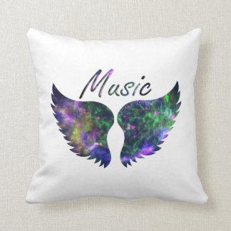 La música se va volando verde púrpura de la Nova 1 Cojin