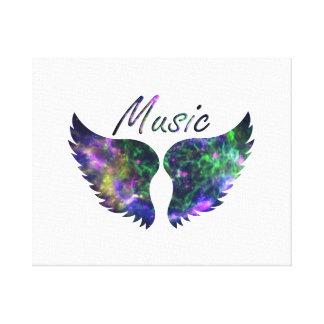 La música se va volando verde púrpura de la Nova 1 Impresión De Lienzo