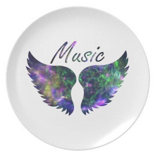 La música se va volando verde púrpura de la Nova 1 Platos