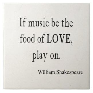 La música sea la comida de las citas de la cita de azulejos cerámicos