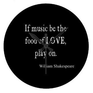 La música sea la comida de las citas de la cita de reloj redondo grande