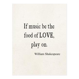 La música sea la comida de las citas de la cita de tarjeta postal