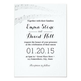 La música simple y elegante observa invitaciones comunicados personales